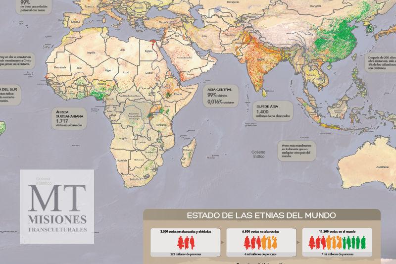 Mapa de la Falta del Envío Misionero Mundial